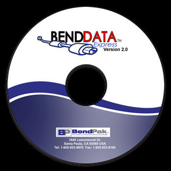 The BendPak pipe bender BendData system contains everything you need to bend exhaust systems for numerous vehicles.