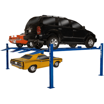 BendPak HD-9SW double-vehicle storage four post hoist