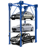 Loaded PL-14000 Triple Stacker Parking Lift Power Controls for  auto stacker parking car lift