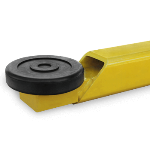 Rubber lifting pad on a BendPak two-post car lift arm.