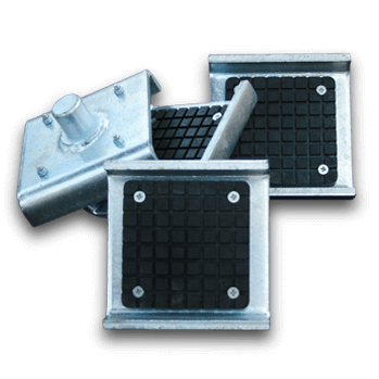 keep your vehicle frame securely in place on the bendpak two post lift arm - Frame cradle pads
