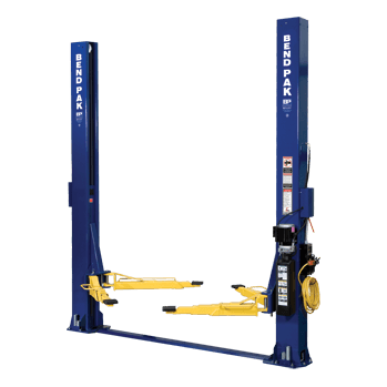 BendPak XPR-9D direct-drive floor plate two post hoist
