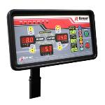 Wheel balancer soft-touch key pad and display panel features tire and wheel graphics to help simplify speed entry of wheel data and helps guide technicians through balancing procedures.  DST64T
