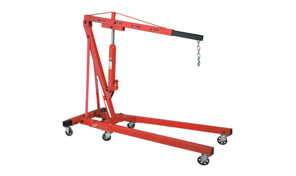 Ranger RSC-2TF heavy-duty hydraulic folding engine hoist with 8-ton capacity ram